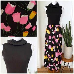 70's Vintage Ayres Unlimited Colors Tulip Dress